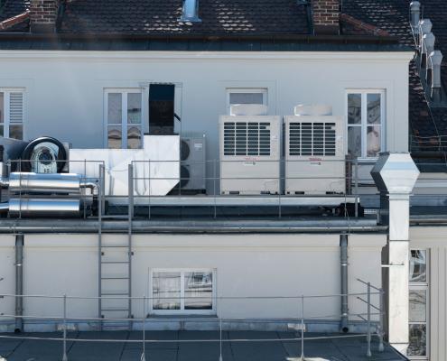 Klimaanlage an der Universität Wien, Fakultät für Physik, Boltzmanngasse, Wien